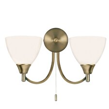 2 Light Semi Flush Wall Light