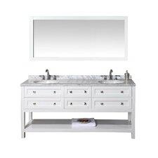 Albia 72 Double Bathroom Vanity Set with Mirror by dCOR design