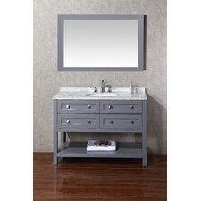 Albia 48 Single Modern Bathroom Vanity Set with Mirror by dCOR design