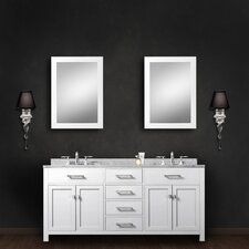 Fran 60 Double Bathroom Vanity Set with Mirror by Darby Home Co