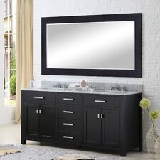 Fran 60 Double Bathroom Vanity Set with Large Mirror by Darby Home Co