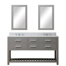 Fran 60 Double Sink Bathroom Vanity Set with Mirror by Darby Home Co