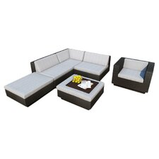 Bal Harbour Park Terrace 6 Piece Deep Seating Group with Cushions