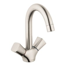Logis Faucet Double Handle with Drain Assembly