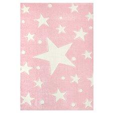Kinderteppich Stars in Rosa