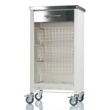 Chelsea Kitchen Trolley with Stainless Steel Counter Top