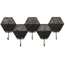 Hexagon Pocket Wall Hook Coat Rack by Household Essentials