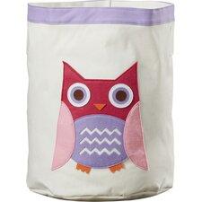 Owl Round Toy Storage Bin