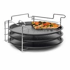 4-tlg. Pizzablech-Set mit Antihaftbeschichtung