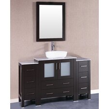54 Single Vanity Set with Mirror by Bosconi