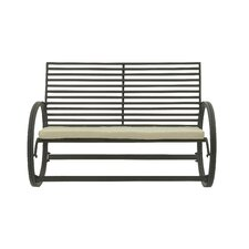 Metal and Fabric Garden Bench by Cole & Grey