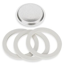 Gaskets and Replacement Filter Plates for Stovetop Coffee Maker