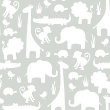 It's a Jungle in Here 5.5m L x 52cm W Animals Roll Wallpaper