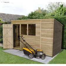 10 Ft. W x 6 Ft. D Wooden Storage Shed