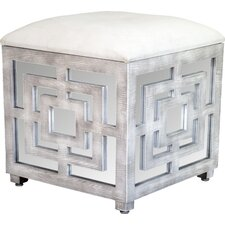Reena Mirrored Cube Ottoman by Statements by J