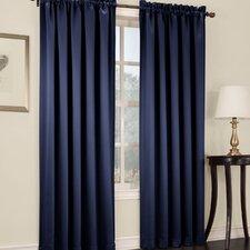 Groton Solid Semi-Sheer Rod Pocket Single Curtain Panel