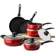 Wayfair Basics 10 Piece Non-Stick Aluminum Cookware Set