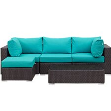 Hermanson 5 Piece Deep Seating Group with Cushion