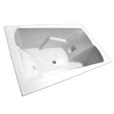 71 x 48 Arm-Rest Soaking Tub by American Acrylic