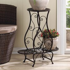 Black Cloister Etagere Plant Stand