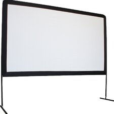 "Yard Master Series Dyna White 120"" Diagonal Portable Projection Screen"