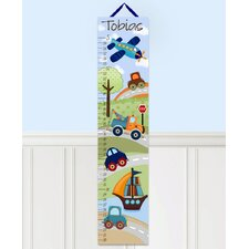 Personalized Patchwork Transportation Growth Chart