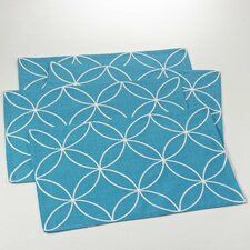 Leonora Stitched Tile Design Placemat (Set of 4)