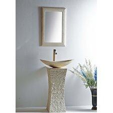 "Milan 24"" Pedestal Bathroom Sink"