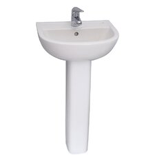 "18"" Pedestal Bathroom Sink"
