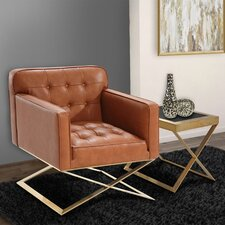 Bell Lounge Chair in Brown by Mercer41™