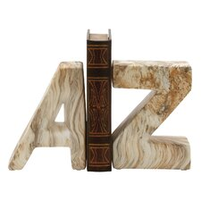 """""""A"""" and """"Z"""" Ceramic Book Ends (Set of 2)"""