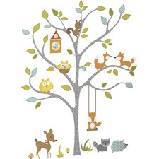 Chevy Woodland Fox and Friends Tree Wall Decal
