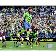 Clint Dempsey Signed Seattle Sounders Framed Photographic Print