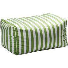 Leon Outdoor Striped Bean Bag Ottoman