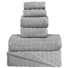 Wavy 6 Piece Towel Set