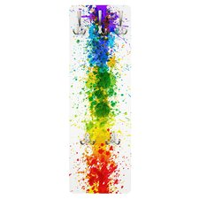 Wandgarderobe Rainbow Splatter