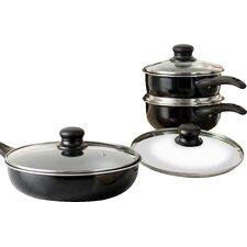 Wayfair Basics 8 Piece Non-Stick Aluminum Cookware Set