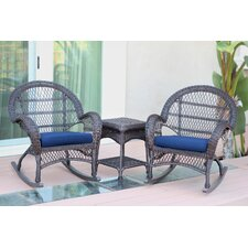 Santa Maria Wicker 3 Piece Rocker Seating Group with Cushion