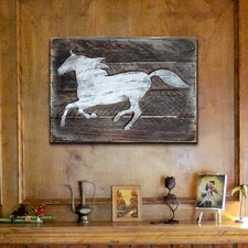 Horse Decorative Shabby Elegance Rustic Wooden Board Wall Décor