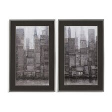 Thoroughly Modern 'Uptown City II' Framed Graphic Art