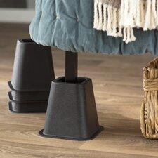 Wayfair Basics 4 Piece Bed Risers Set