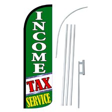 Income Tax Service Swooper Flag and Flagpole Set