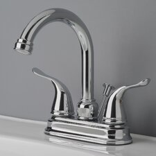 Centerset Bathroom Faucet Double Handle with Drain Assembly