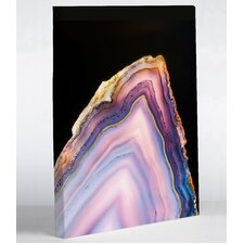 'Geode Rainbow Gold' Painting Print on Canvas