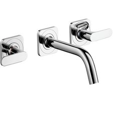 Axor Citterio M Double Handle Wall Mounted Widespread Faucet
