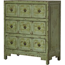 Harrouda Hand Painted 3 Drawer Chest by Bungalow Rose