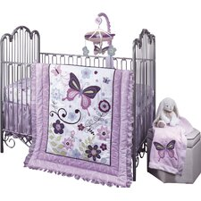 Butterfly Lane 5 Piece Crib Bedding Set