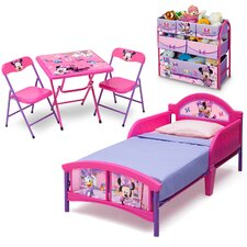 5-tlg. Kinderzimmer-Set Minnie Maus, 77 cm x 145 cm