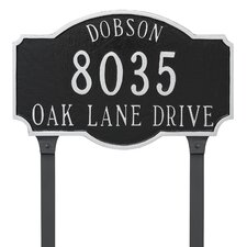 Estate 3-Line Lawn Address Sign