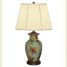 "Parrots Cay Hand Painted Porcelain 29"" Table Lamp"